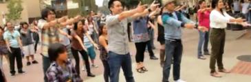 Nam Trans Flashmob Heiratsantrag