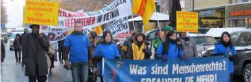 Demonstration anlässlich des Internationalen Tages der Menschenrechte