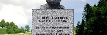 Update: Einweihung des Rupert Neudeck Denkmals am 12.05.2018