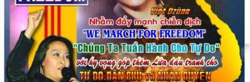 Aktion: Wir marschieren für die Freiheit